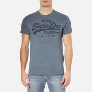 Superdry Men's Vintage Logo Overdye T-Shirt - Ice Marl Overdyed Hall Blue
