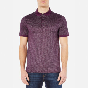 Michael Kors Men's Jacquard Polo Shirt - Blackberry