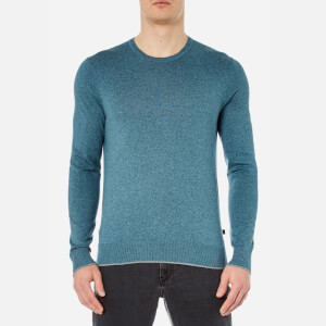 Michael Kors Men's Marl Crew Neck Jumper - Kelp Marl