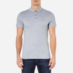 Michael Kors Men's Liquid Cotton Short Sleeve Polo Shirt - Heather Grey