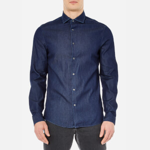 Michael Kors Men's Slim Indigo Long Sleeve Shirt - Dark Wash