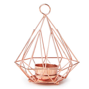 Pyramid Tea Light Holder - Copper