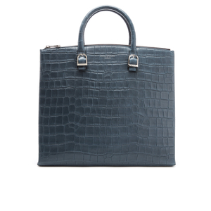 Aspinal of London Women's Editors Bag - Teal Nubuck Croc