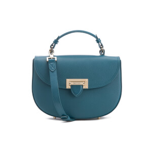 Aspinal of London Women's Saddle Pebble Bag - Blue