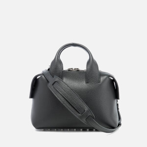 Alexander Wang Women's Rogue Small Embossed Snake/Leather Satchel - Black
