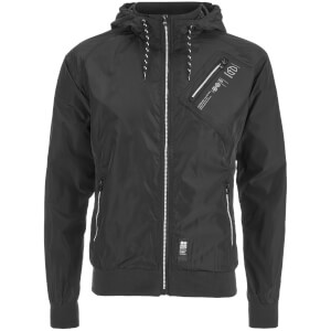 Crosshatch Men's Flexon Zip Through Hoody - Black