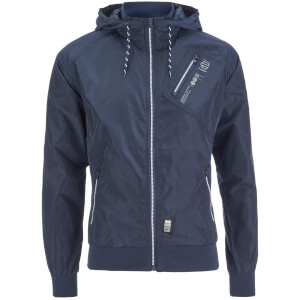 Crosshatch Men's Flexon Zip Through Hoody - Iris Navy