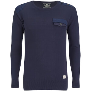 Crosshatch Men's Barrowell Jumper - Navy Blazer
