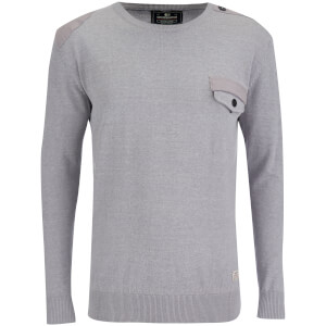 Pull Crosshatch pour Homme Barrowell -Gris Chiné