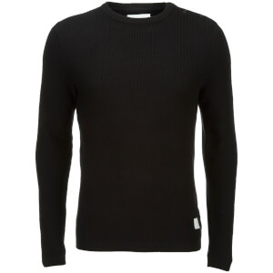 Jack & Jones Men's Core Octavio Textured Jumper - Black