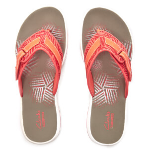 Clarks Women's Brinkley Quade Toe Post Sandals - Coral