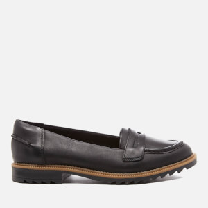 Clarks Women's Griffin Milly Leather Loafers - Black