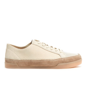 Clarks Women's Hidi Holly Suede Cupsole Trainers - White Combi