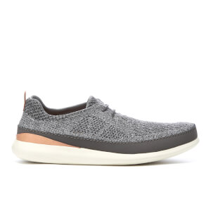 Clarks Men's Pitman Run Textile Runner Trainers - Grey