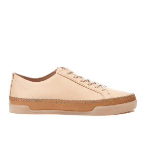 Clarks Women's Hidi Holly Leather Cupsole Trainers - Nude