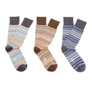 Paul Smith Men's 3 Pack Multi Stripe Socks - Multi