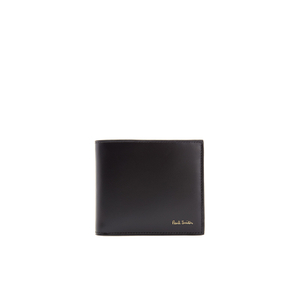 Paul Smith Men's Crayon Print Leather Billfold Wallet - Black