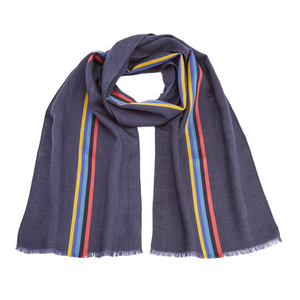 Paul Smith Men's Central Stripe Wool Scarf - Black