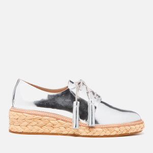 Loeffler Randall Women's Callie Espadrille Tassle Shoes - Silver