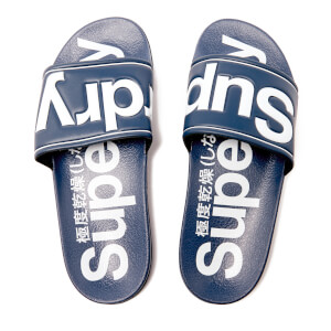 Superdry Men's Pool Slide Sandals - Navy