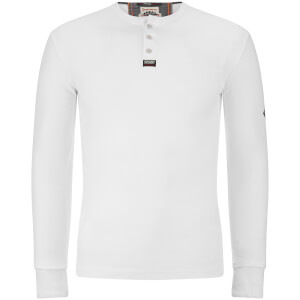 Superdry Men's Heritage Long Sleeve Grandad Top - Optic