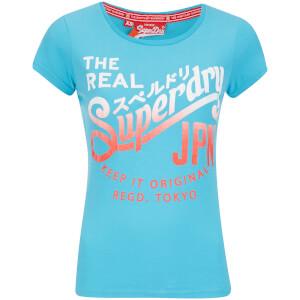 Superdry Women's Classic T-Shirt - Fluro Blue