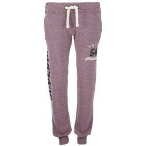 Superdry Women's Ombre Sparkle Tokyo Joggers - Aubergine Marl