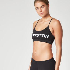 Myprotein Women's Logo Sports Bra – Black