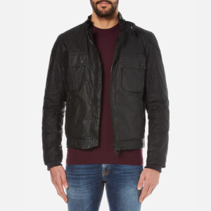 Barbour International Men's Oil Wax Jacket - Black