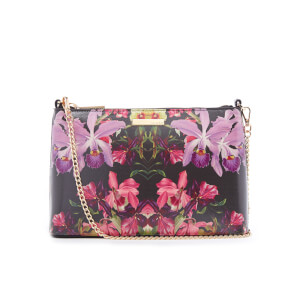 Ted Baker Women's Dilalah Lost Gardens Leather Cross Body Bag - Black