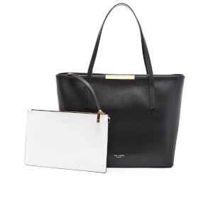 Ted Baker Women's Cherri Mini Grain Colourblock Large Shopper Bag - Black
