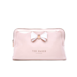 Ted Baker Women's Abbie Curved Bow Large Wash Bag - Mid Pink