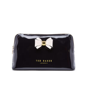 Ted Baker Women's Abbie Curved Bow Large Wash Bag - Black
