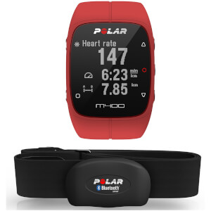 Polar M400 GPS Running Watch with Heart Rate Monitor - Red