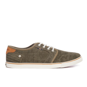 Wrangler Men's Mitos Derby Canvas Trainers - Military