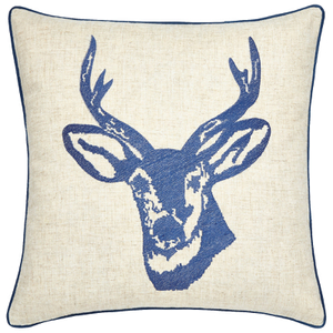Catherine Lansfield Stags Head Cushion (45cm x 45cm) - Navy
