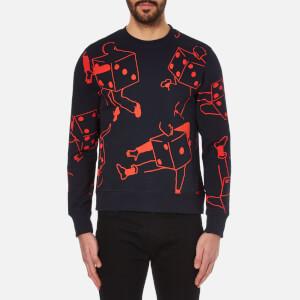PS by Paul Smith Men's Cotton Sweatshirt - Navy