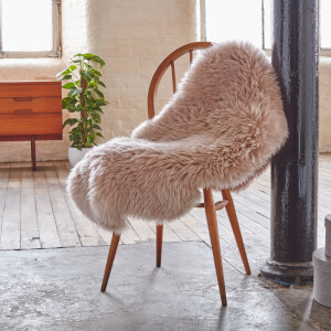 Royal Dream Large 100% Sheepskin Rug - Light Brown