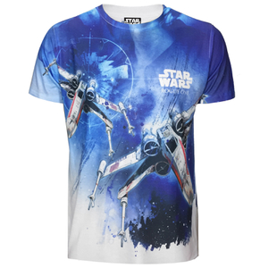 Star Wars: Rogue One Mens X-Wing Sublimation T-Shirt - Wit
