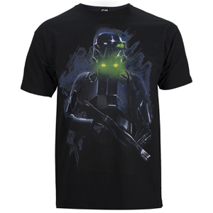 T-Shirt Homme Star Wars Rogue One Death Trooper - Noir