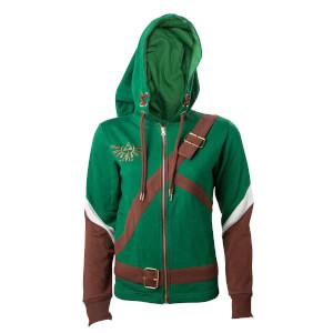 Zelda Women's Link Cosplay Hoody - Green - L