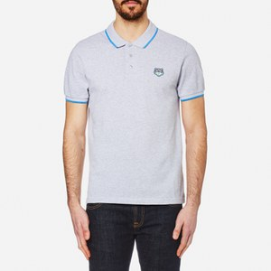 KENZO Men's Cotton Pique Tiger Polo Shirt - Pearl Grey