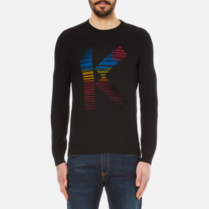 KENZO Men's K Flock Cotton Knitted Jumper - Black