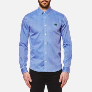 KENZO Men's Velvet Effect Cotton Tiger Shirt - Perriwinkle