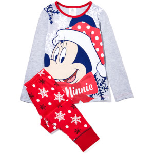 Disney Girl's Mini Mouse Print Pyjamas - Red