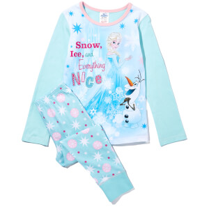 Disney Girl's Frozen Scene Print Pyjamas - Mint Green