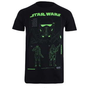 Star Wars Death Trooper Schematic Heren T-Shirt - Zwart