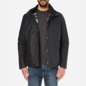 Barbour Men's Hilton Wax Jacket - Navy