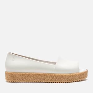 Melissa Women's Puzzle Peep Toe Flats - White