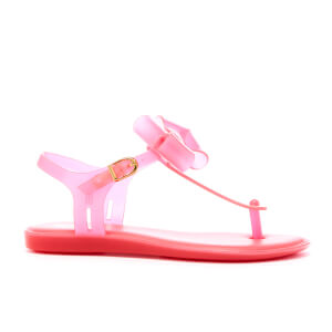 Mini Melissa Kids' Solar Bow Sandals - Bright Pink